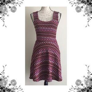 {Lovers + Friends} Chevron Knit Fit & Flare Dress
